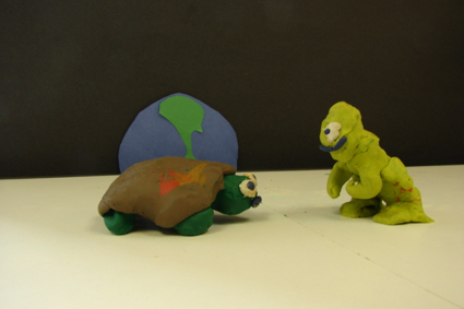 Polymer Clay Turtle and Alien